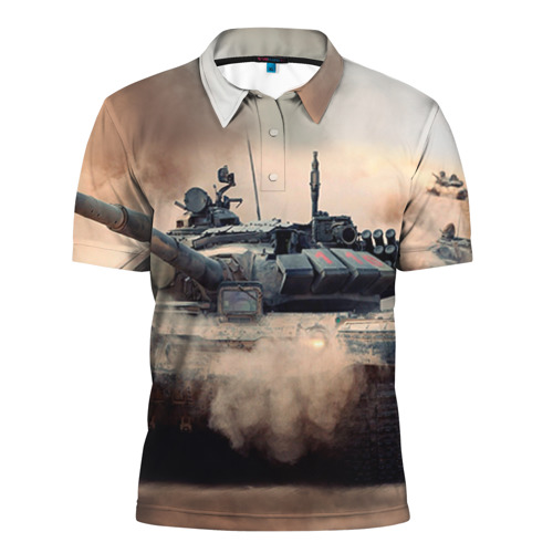 Мужская рубашка поло 3D Танк