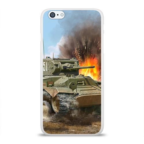 Чехол для Apple iPhone 6Plus/6SPlus силиконовый глянцевый Танк