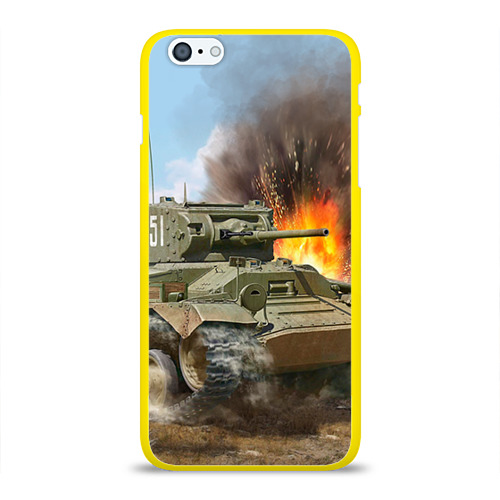 """Чехол силиконовый глянцевый для Apple iPhone 6 Plus """"Танк"""" (2) - 1"""