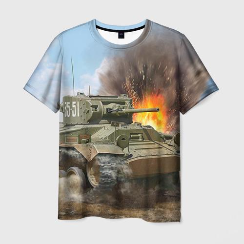 """Мужская футболка 3D с полной запечаткой """"Танк"""" (4) - 1"""
