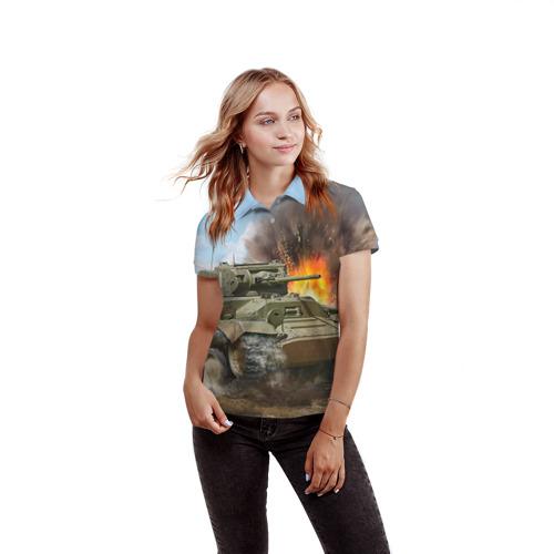 Женская рубашка поло 3D  Фото 03, Танк