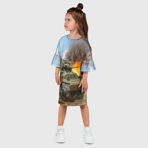 Детское платье 3D  Фото 03, Танк