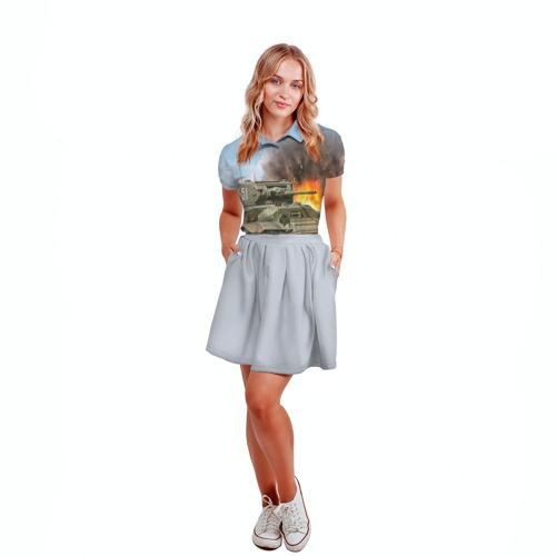 Женская рубашка поло 3D  Фото 04, Танк