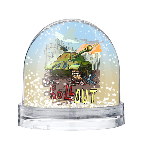 Водяной шар со снегом Танк roll out