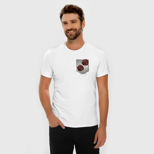 Мужская футболка премиум  Фото 03, Роза