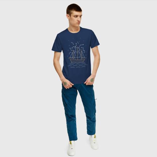 Мужская футболка хлопок Звездный корабль Фото 01