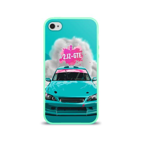 Чехол для Apple iPhone 4/4S силиконовый глянцевый 2 JZ GTE