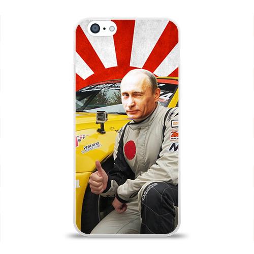 Чехол для Apple iPhone 6 силиконовый глянцевый  Фото 01, Путин с нами ;)