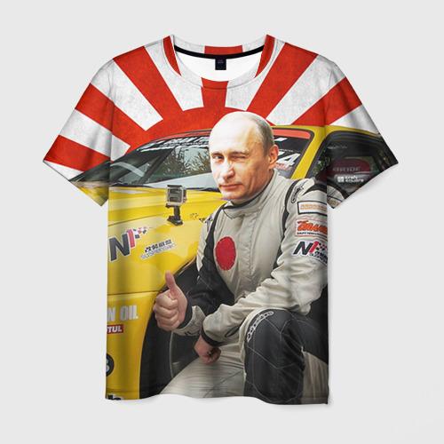 Мужская футболка 3D Путин с нами ;)