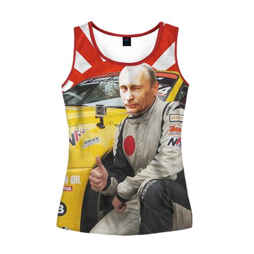 Женская майка 3D Путин с нами ;)