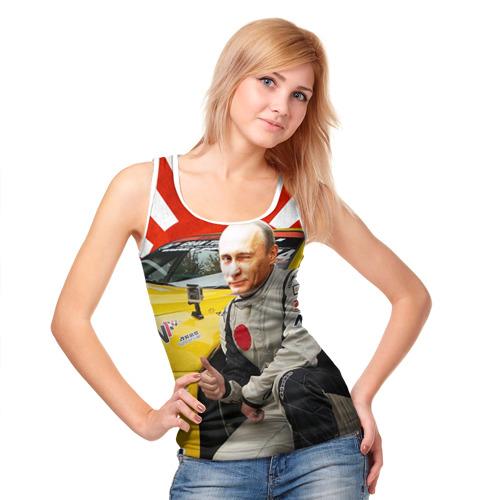 Женская майка 3D  Фото 05, Путин с нами ;)