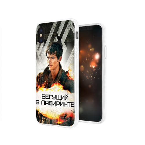 Чехол для Apple iPhone X силиконовый глянцевый  Фото 03, Бегущий в лабиринте