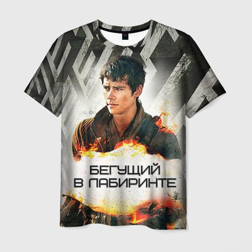 Мужская футболка 3D Бегущий в лабиринте