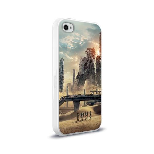 Чехол для Apple iPhone 4/4S силиконовый глянцевый  Фото 02, Бегущий в лабиринте