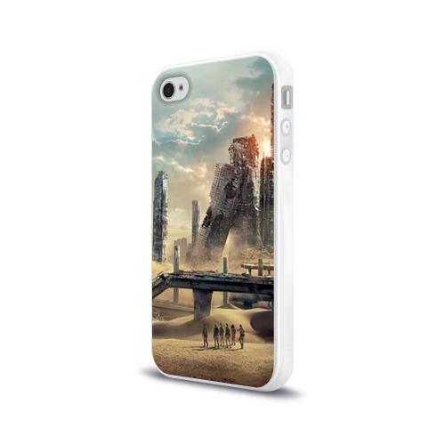 Чехол для Apple iPhone 4/4S силиконовый глянцевый  Фото 03, Бегущий в лабиринте