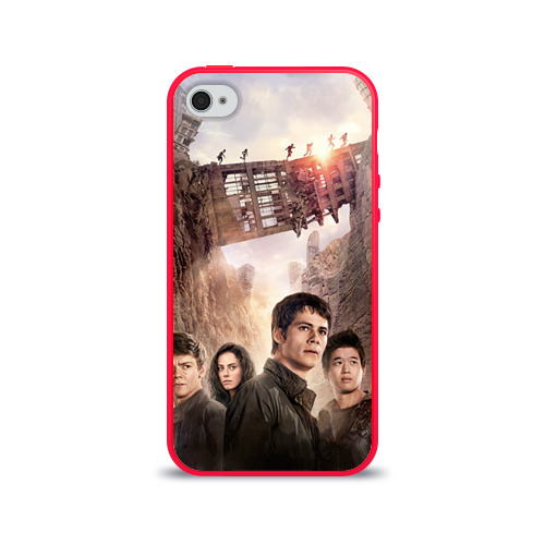 Чехол для Apple iPhone 4/4S силиконовый глянцевый  Фото 01, Бегущий в лабиринте