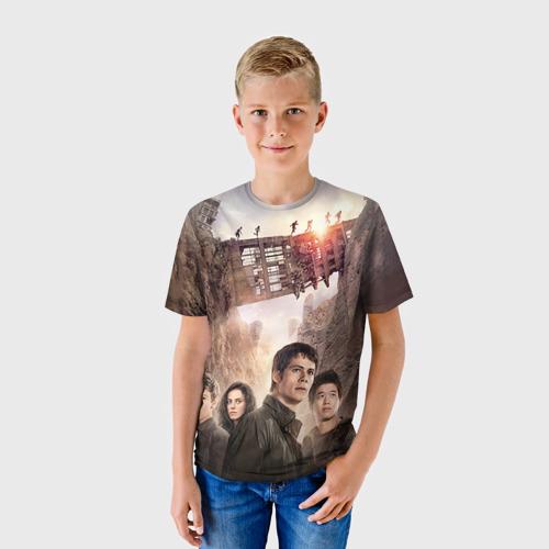 Детская футболка 3D Бегущий в лабиринте