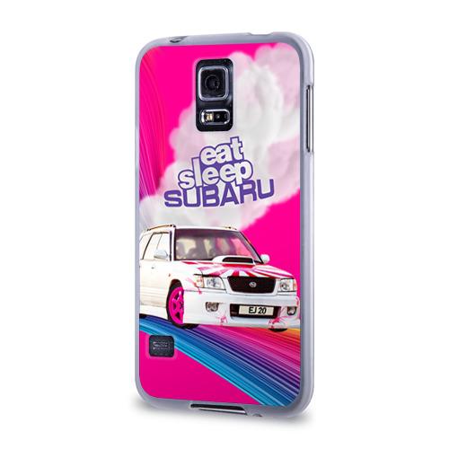 Чехол для Samsung Galaxy S5 силиконовый  Фото 03, Subaru