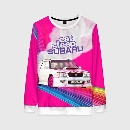 Женский свитшот 3D Subaru Фото 01