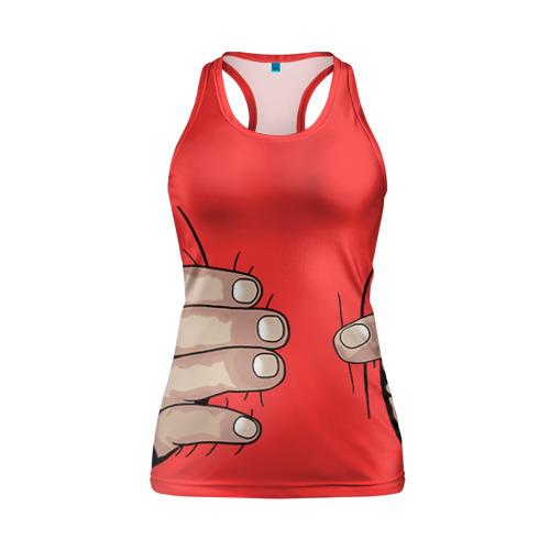 Женская майка 3D спортивная Рука