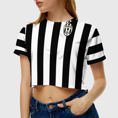 Женская футболка 3D укороченная Juventus Vidal