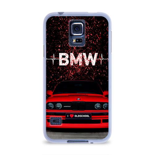 Чехол для Samsung Galaxy S5 силиконовый  Фото 01, BMW
