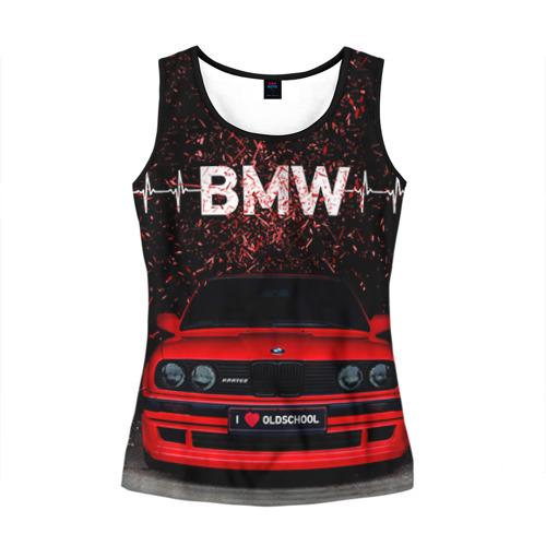 Женская майка 3D BMW