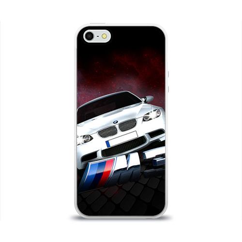 """Чехол силиконовый глянцевый для Apple iPhone 5S """"BMW"""" (2) - 1"""
