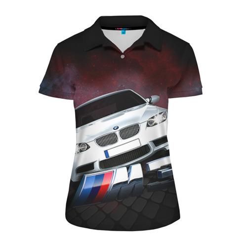 Женская рубашка поло 3D BMW