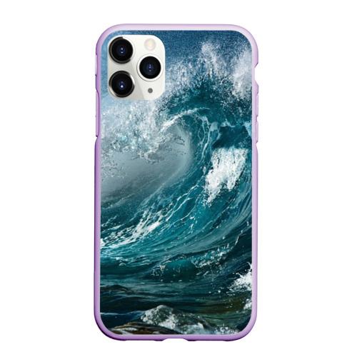 Чехол для iPhone 11 Pro Max матовый Волна Фото 01