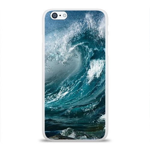 """Чехол силиконовый глянцевый для Apple iPhone 6 Plus """"Волна"""" - 1"""