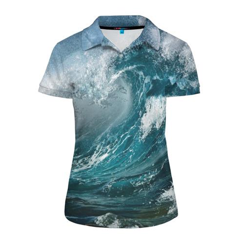 Женская рубашка поло 3D Волна