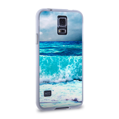 Чехол для Samsung Galaxy S5 силиконовый  Фото 02, Волны