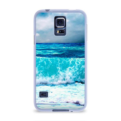 Чехол для Samsung Galaxy S5 силиконовый  Фото 01, Волны
