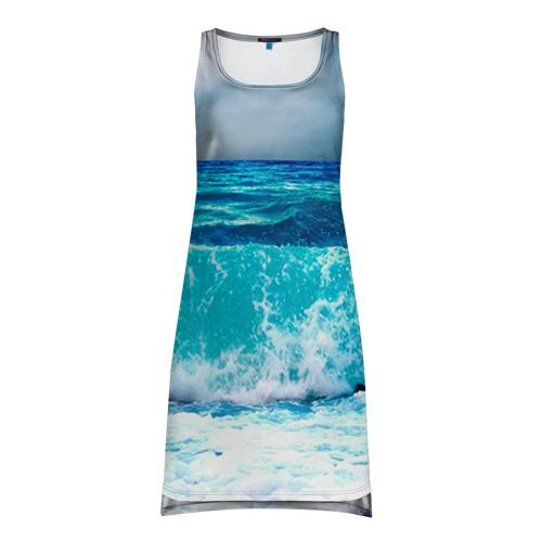 Платье-майка 3D Волны