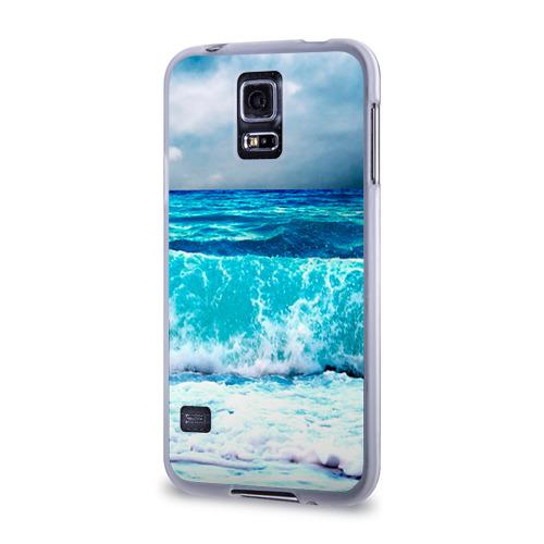 Чехол для Samsung Galaxy S5 силиконовый  Фото 03, Волны