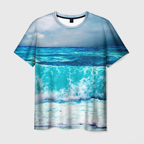 Мужская футболка 3D Волны