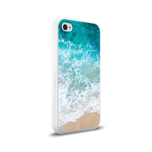 Чехол для Apple iPhone 4/4S силиконовый глянцевый Берег Фото 01