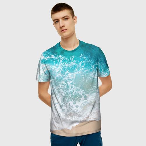Мужская футболка 3D Берег Фото 01