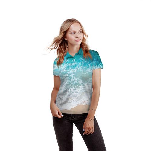 Женская рубашка поло 3D  Фото 03, Берег