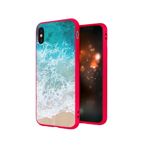 Чехол для Apple iPhone X силиконовый матовый Берег Фото 01