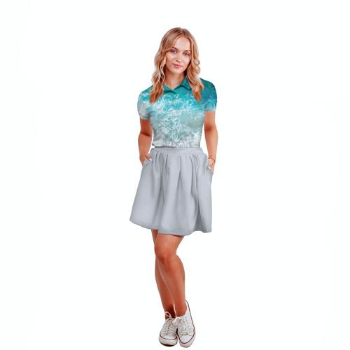 Женская рубашка поло 3D  Фото 04, Берег