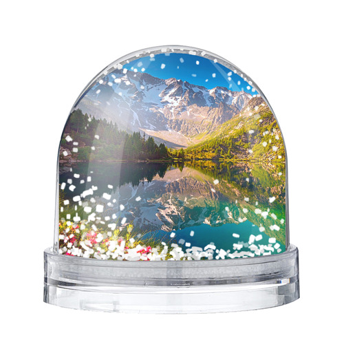 Водяной шар со снегом Природа
