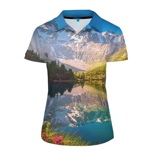 Женская рубашка поло 3D Природа