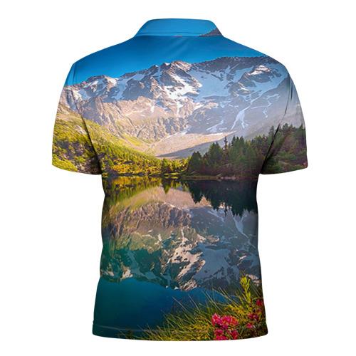Мужская рубашка поло 3D  Фото 02, Природа