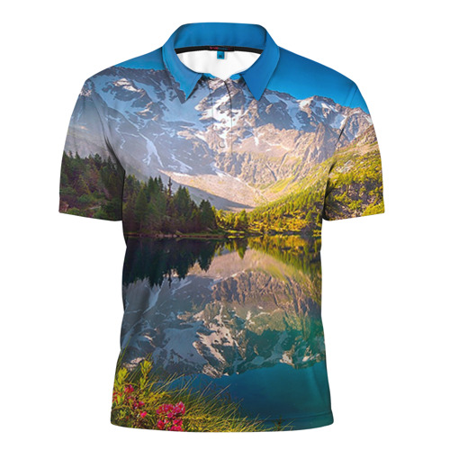 Мужская рубашка поло 3D  Фото 01, Природа