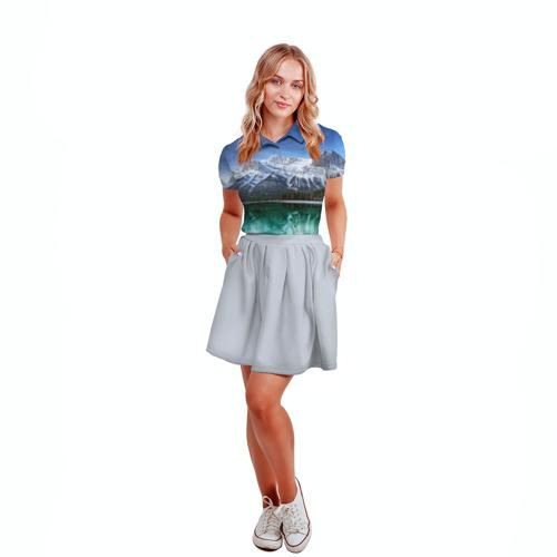 Женская рубашка поло 3D  Фото 04, Отражение