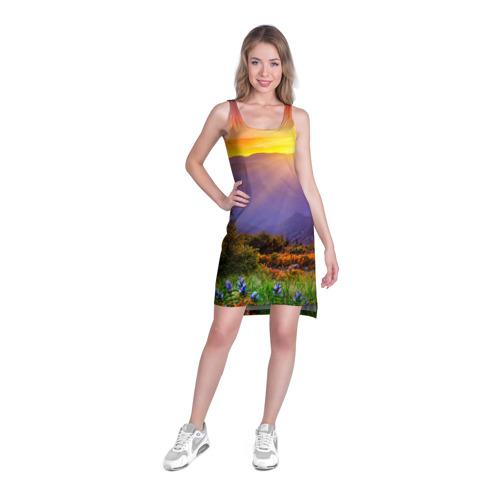Платье-майка 3D Природа Фото 01