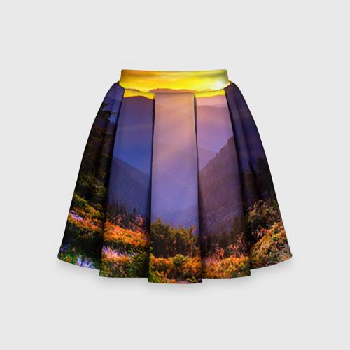 Детская юбка-солнце 3D Природа