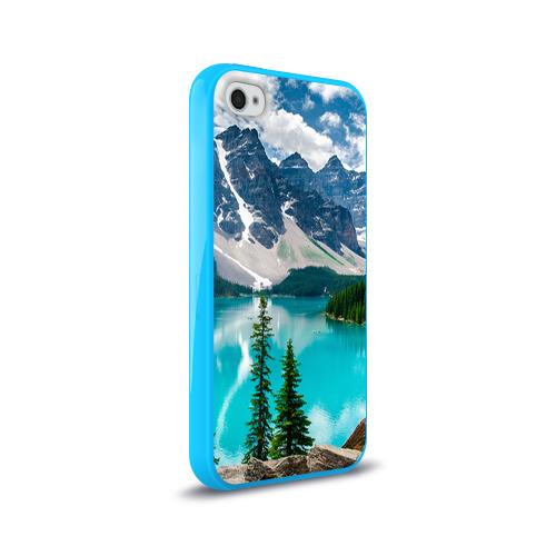 Чехол для Apple iPhone 4/4S силиконовый глянцевый  Фото 02, Озеро